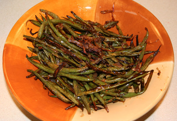 Roasted Mustard-Maple Green Beans